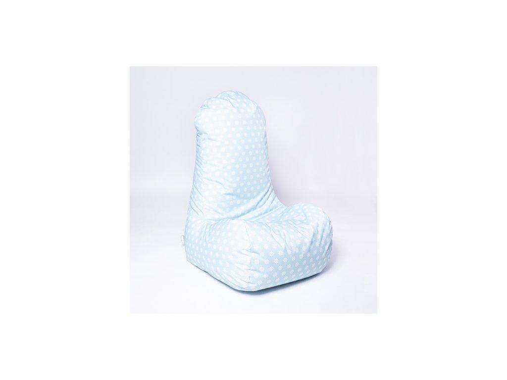 Sedací vak Chair Kormidlo silver blue