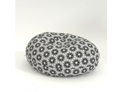 oval graphic flower grey
