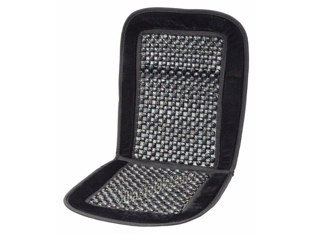 Potah sedadla kuličkový s lemem černý 93x44cm 04108