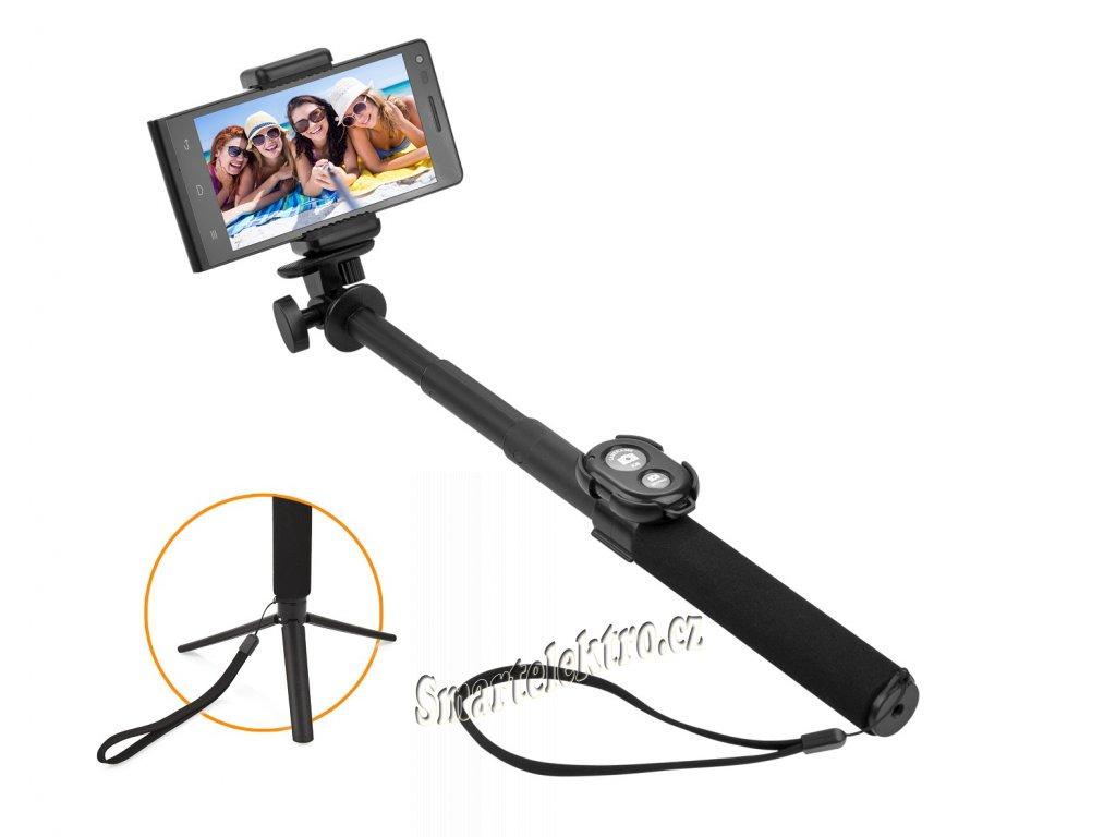 Selfie tyč GoGEN 5 teleskopická, bluetooth, černá GOGBTSELFIE5B