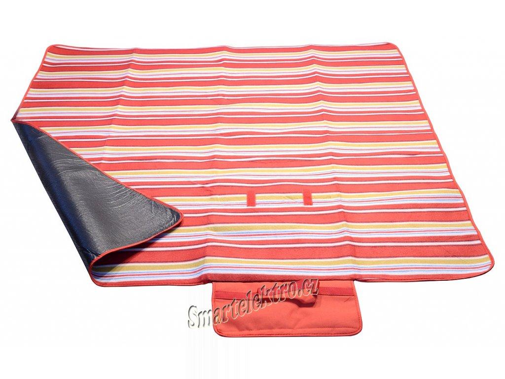 Pikniková deka FLEECE 150x135cm červená