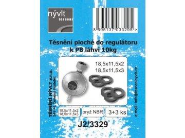Těsnění regulátoru k 10 kg PB láhvi-2+2+3 ks