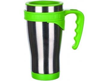 Hrnek cestovní 430 ml nerez/plast Akcent Green