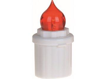 Svíčka hřbitovní elektrická 10 cm červená