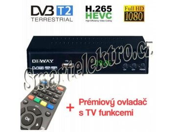 set top box di way pro2020 fullhd s hevc h 265 dvb t2 usb prijimac