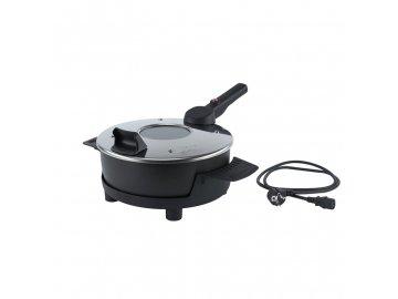 Elektrický pečící hrnec Remoska Prima P31 F černý/stříbrný  + ZDARMA pečící pánev Remoska v ceně 590 Kč