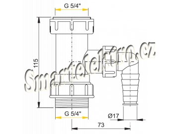 Mezikus 5/4x5/4 sifon s příp. pračka A300