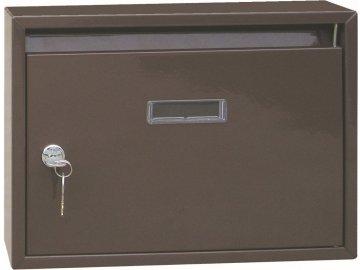 Schránka poštovní panelák hnědá 340x240x60mm
