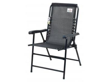 Židle zahradní skládací TERST černá