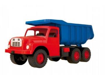 Auto Tatra 148 plast 73cm v krabici - červená kabina modrá korba