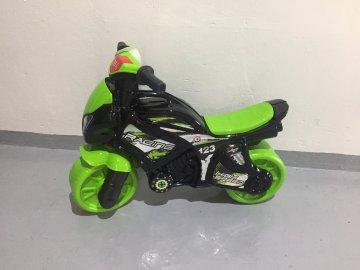 Odrážedlo motorka zeleno-černá se zvukem