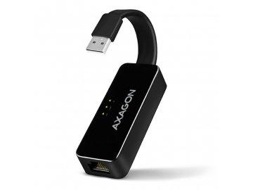 Redukce Axagon ADE-XR, USB 2.0/RJ45 - černá