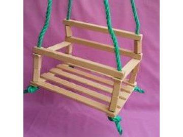 Houpačka dětská dřevo přírodní 35x27 cm