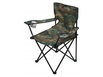 Židle kempingová skládací BARI ARMY 13450