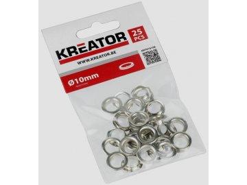 Kroužek nýtovací hliník 10 mm 25ks