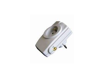 Solight přepěťová ochrana do zásuvky, 714J, 1 zásuvka, anténní konektor