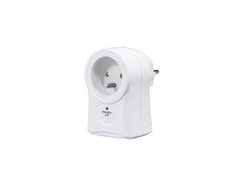 Solight přepěťová ochrana do zásuvky, 306J, 1 zásuvka, otočná o 360°, 2x USB výstup