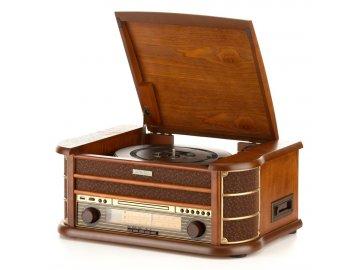 Gramofon s CD Hyundai RTCC 513 RIP O RETRO, FM, ořech
