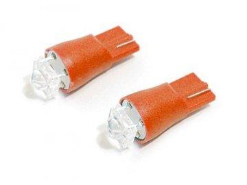 Žárovka 1SUPER LED 12V  T10  červená 2ks
