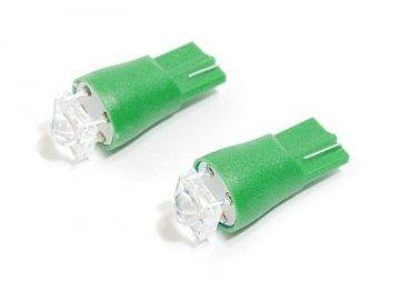 Žárovka 1SUPER LED 12V  T10  zelená 2ks