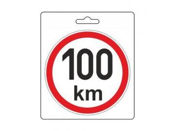 Samolepka omezená rychlost 100km/h (110 mm)