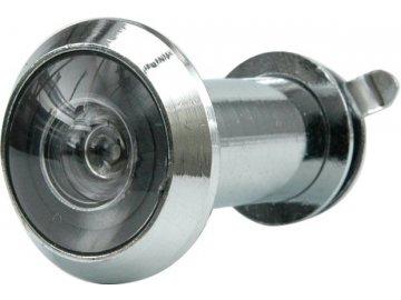 Kukátko do dveří 35 - 50 mm 200° stříbrné