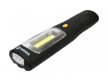 Lampa pracovní COB LED 3W + 3xLED čelní