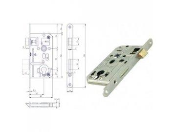 Zámek dveřní HOBES K 133 FAB/PZ 72/80