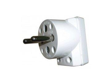 ABB 5536-2154 Vidlice bílá dvojpólová, s postranním vývodem
