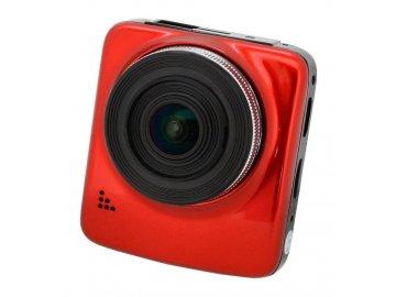 """Compass kamera do auta Full HD 2,4"""" červená GPS  + poukázka TESCO v hodnotě 200,- Kč"""