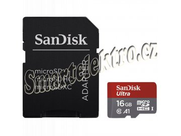 SanDisk Ultra microSDHC 16 GB 98 MB/s A1 Class 10 UHS-I, Android, Adaptér (173446)