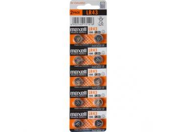 186/LR43/V12GA 10BP Alk MAXELL