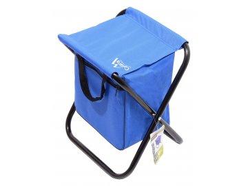 Židle kempingová skládací MALAGA modrá
