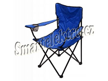 Židle kempingová skládací BARI modrá