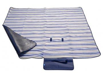Pikniková deka FLEECE 150x135cm modrá