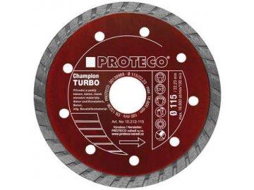 Diamantový celistvý kotouč PROTECO TURBO CHAMPION 115 mm (10.212-115)