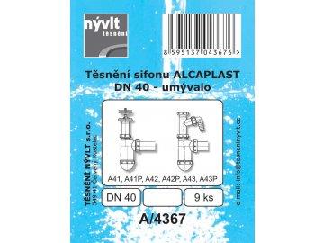Těsnění sifonu umyvadla Alcaplast DN40-9 ks