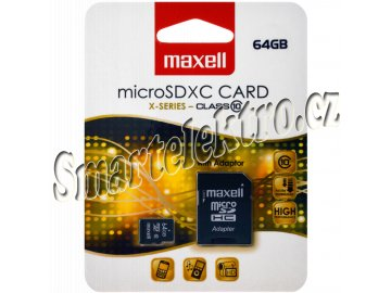 Maxell MicroSDXC 64GB CL10 + adpt 854988 MAXELL