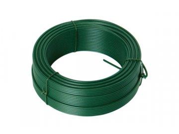 Drát napínací PVC 2,6mm zelený 52m