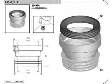 Manžeta WC připojovací T3560/II přímá