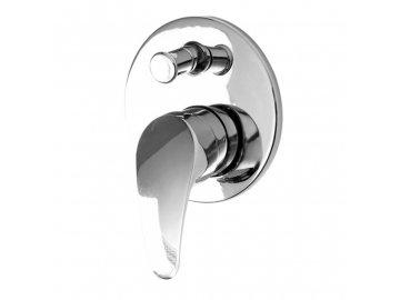 Sprchová podomítková baterie, Sonáta, s přepínačem vč. těla, chrom