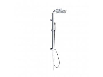 Sprchová souprava Quatro, nerezová hlavová sprcha a jednopolohová ruční sprcha