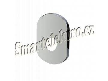 Kryt oválný pro podomítkovou baterii bez přepínače, 180x125 mm