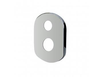 Kryt oválný pro podomítkovou baterii s přepínačem, 190x140 mm