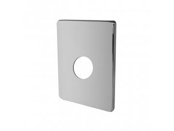 Kryt hranatý pro podomítkovou baterii bez přepínače, 150x120mm