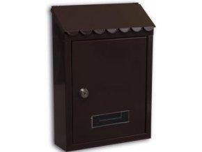 Schránka poštovní hnědá - 300x216x68 mm/TG-S8 se zadním vhozem