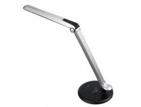 Solight LED stolní lampička dotyková, 8W, plynulá regulace jasu, 5300K, šedo-černá WO31-B