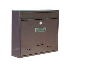 Poštovní schránka Radim malá, 31 x 26cm, hnědá