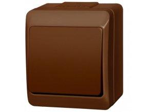 Instalační spínač Galatea 5331-06 IP44 hnědá