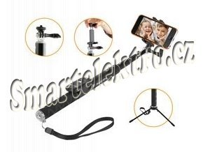 GoGEN 4 Selfie tyč teleskopická, bluetooth, černá GOGBTSELFIE4B